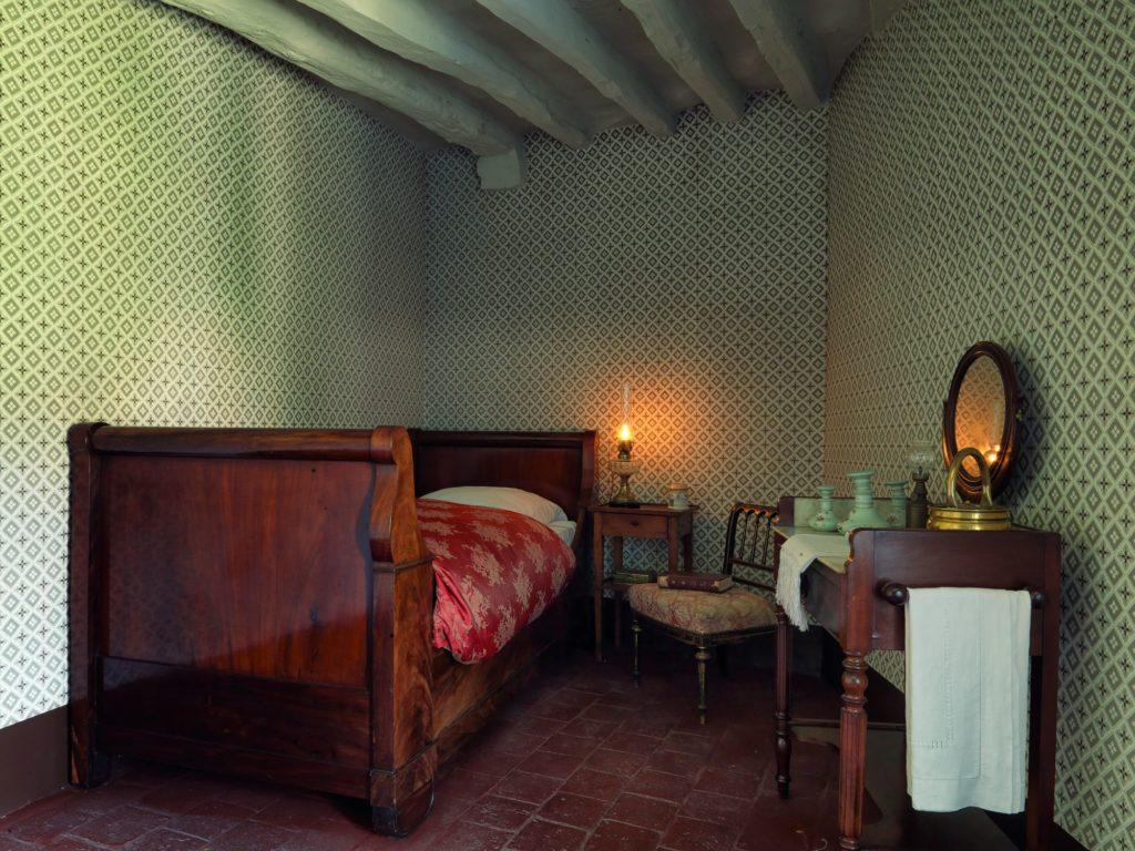 La chambre de Colette, maison natale de Colette à Saint-Sauveur en Puisaye