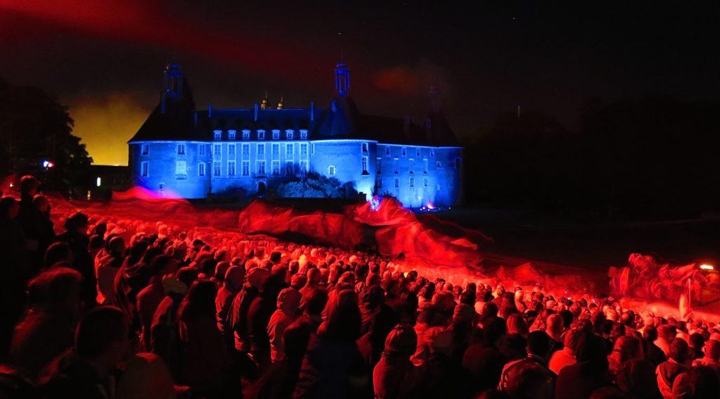 Spectacle historique au château de Saint-Fargeau
