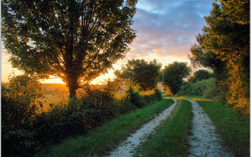 Lever du soleil sur un chemin de randonnée – ©Daniel Salem