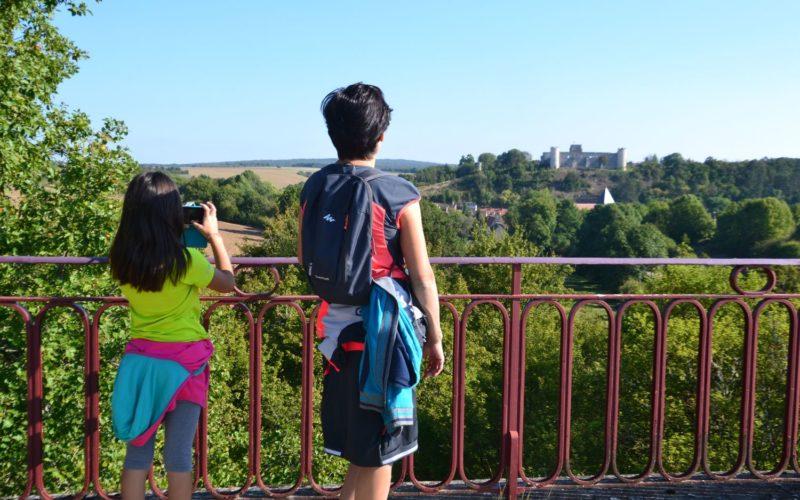 Depuis le viaduc de Druyes-les-belles-fontaines avec vue sur le château – ©Michel Mourot