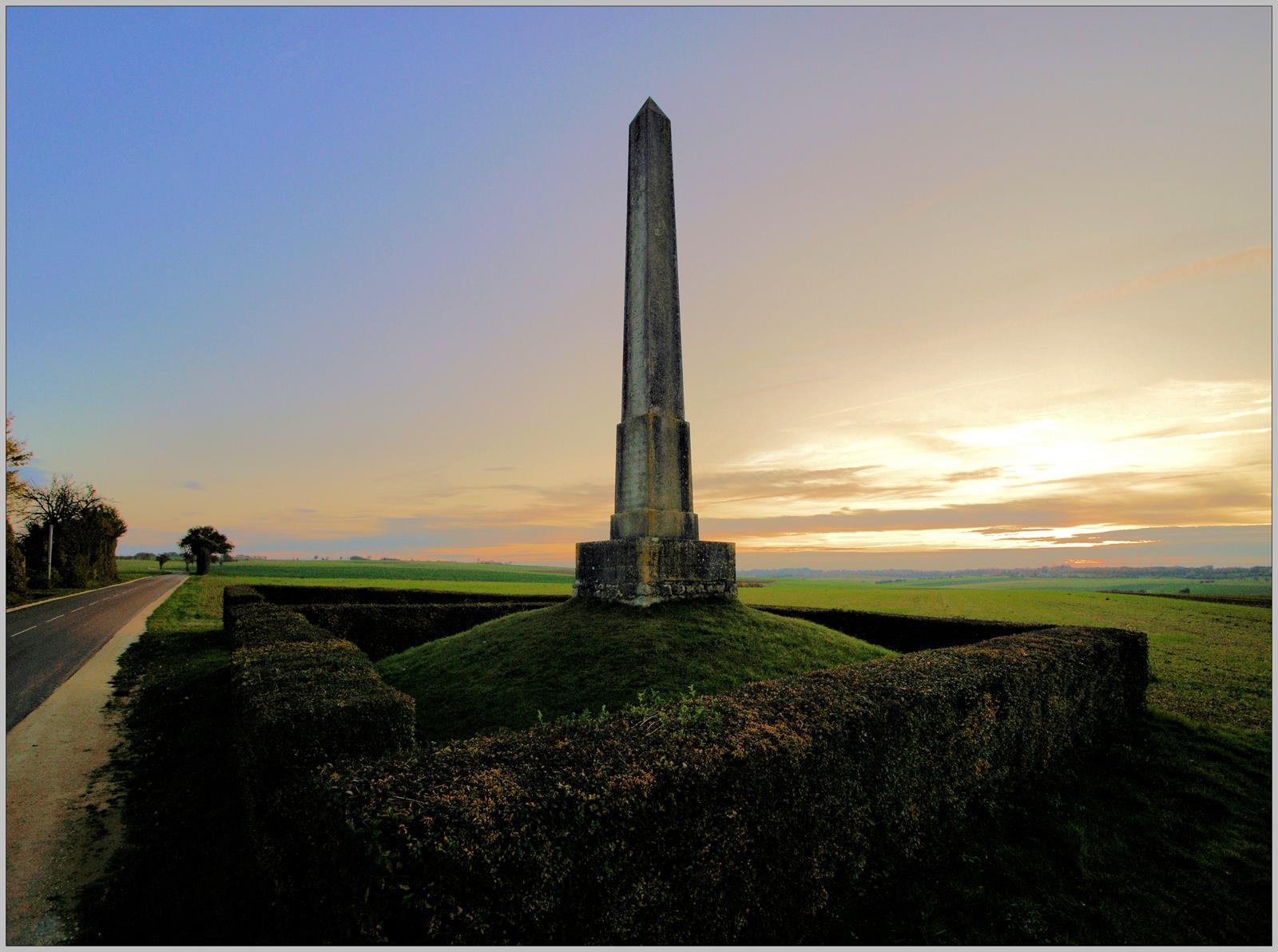 L'obélisque de la bataille de Fontenoy