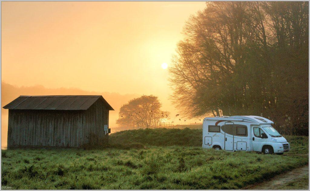 Aire de stationnement camping-cars en Puisaye