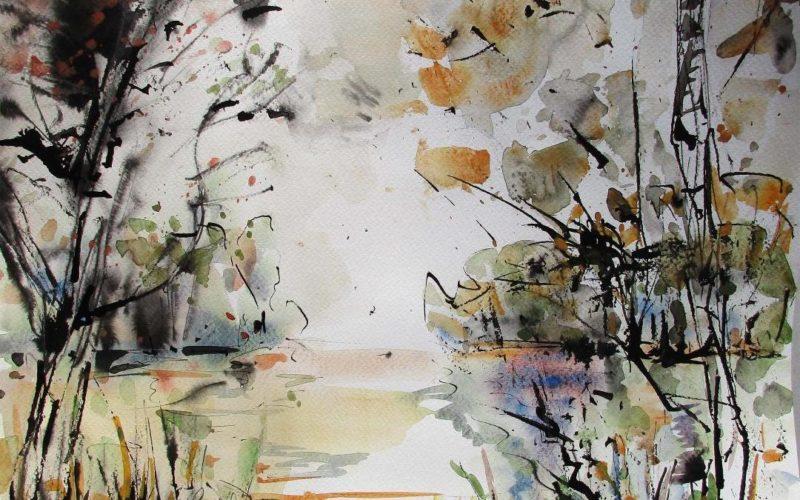 Aquarelles de Jean Pierre Arlix – Acanthe, Village d'Artiste – Puisaye-Forterre