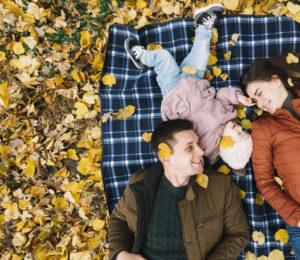famille en automne