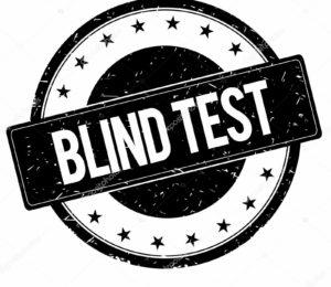 BLIND TEST stamp sign black.