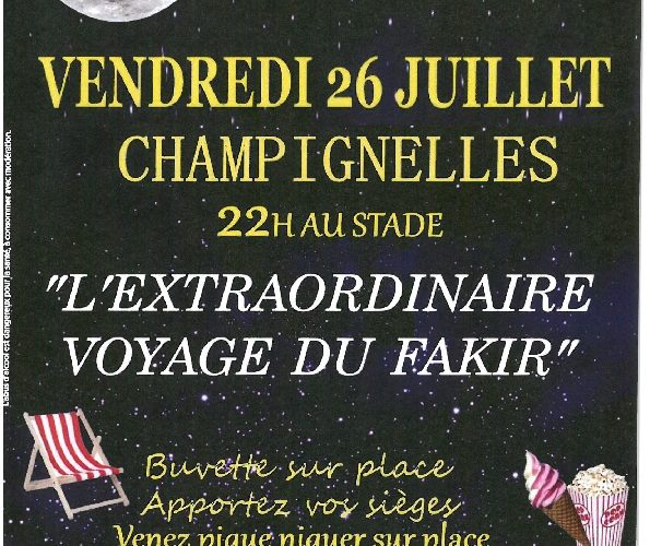 26 juillet cinéma plein air Champignelles