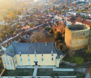 Vue aérienne du musée Colette