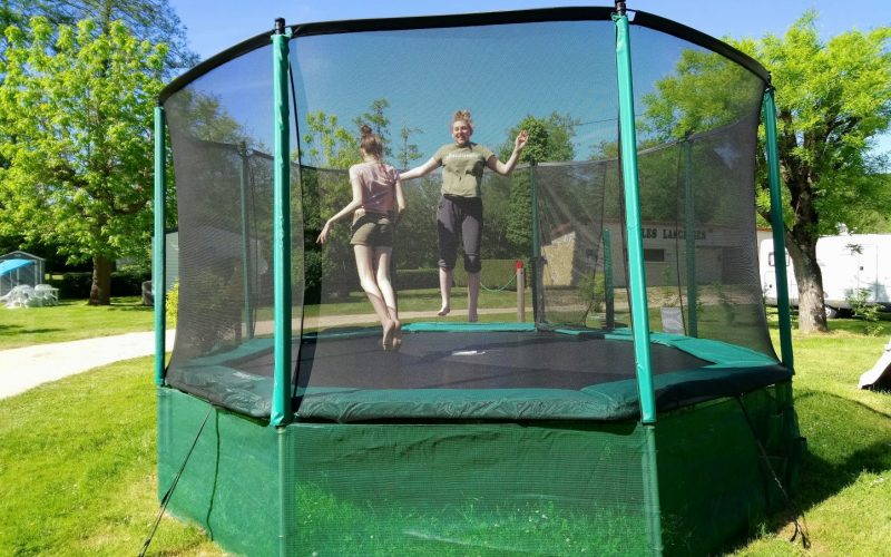 Trampoline pitchup