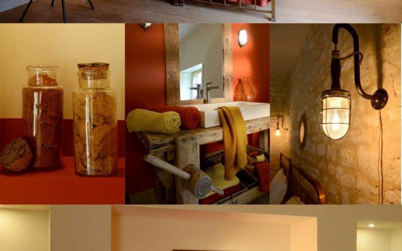 chambre aux couleurs d'automne